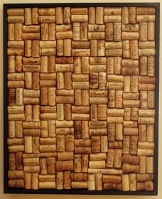 DIY bulletin board made from wine corks. Perfect for any rustic bar or server http://www.hgtvhomefurniture.com/Server-DZ29564.asp
