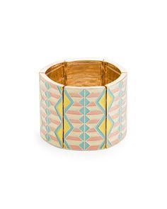 {Basket Weave Bangle} love the geometric patterns + pastel colours!