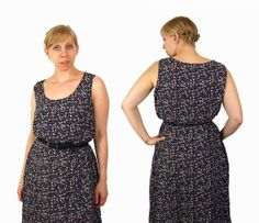 Oversized Purple Floral Print Summer Dress by IntertwinedVintage, $25.00