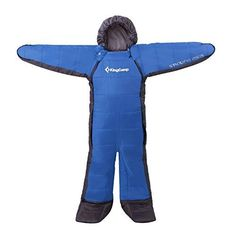KingCamp 3 Season Full Body Sleeping Bag for Family Free Walker Design Youth Blue ** You can find more details by visiting the image link.