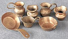 Vintage Dollhouse Copper Cookware & Mugs Set Of 10 http://www.tias.com/vintage-dollhouse-copper-cookware--mugs-set-of-10-678157.html