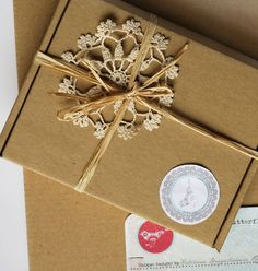 Craft ecru cardboard paper packaging simple boxes set by Iwannabe, $5.00