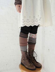 patchwork socks :: @Sarah Chintomby Chintomby Reece this has you written all over it...: