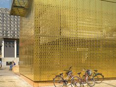 Metal Perforated and embossed sheet for facade TECU® Design_punch by KME Architectural