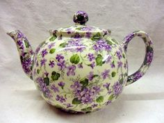Heron Cross Pottery Violet ditsy chintz design 6 cup teapot | Home, Furniture & DIY, Cookware, Dining & Bar, Tableware, Serving & Linen | eBay!