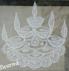 Easy Rangoli Designs Videos, Indian Rangoli Designs, Rangoli Designs Latest, Rangoli Designs Flower, Rangoli Border Designs, Rangoli Patterns, Rangoli Ideas, Rangoli Designs Images, Rangoli Designs With Dots