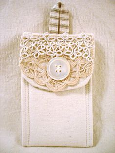 French Inspired Handmade iPhone Cell Phone Case Pouch (A) FREE SHIPPING