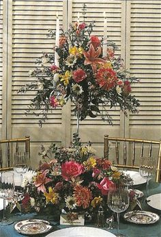 tall wedding flowers centerpieces | You can make a similar arrangement look very different simply by ...