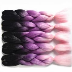 Jumbo Braids Feilimei Ombre Colored Crochet Hair Extensions Kanekalon Hair Synthetic Crochet Braids Ombre Jumbo Braiding Hair Bundles Good Reputation Over The World Hair Braids
