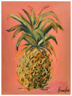 Brooke Eagle Original Pineapple Painting