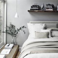 Addison Collection - Silver/Grey from The White Company The White Company, Interior Design Examples, Interior Design Inspiration, Bedding Inspiration, White Bedding, White Bedroom, Bedding Sets, Grey Headboard, Dreams Beds