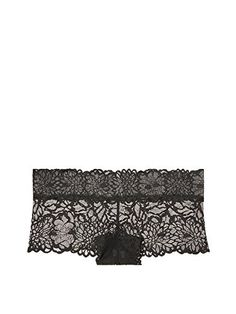 Victorias Secret PINK All Floral Lace Boyshort Panty Black Small * Read more reviews of the product by visiting the link on the image.