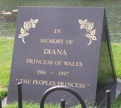 HRH The Princess Diana of Wales burial site photos | Princess Diana Memorial Garden