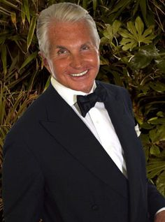 - George Hamilton -  He must own a tanning bed---never have I seen a pix w/o the tan.