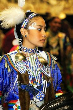 """Native American Woman in a """"healing dress"""" known as the Jingle Dress. Native American Beauty, Native American History, American Indians, Arte Plumaria, Jingle Dress, American Pride, American Lady, American Quotes, American Symbols"""