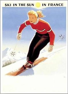Tignes - a retro ski poster