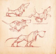 Awww cute dog character studies. Sketches by Shane Devries. Dogs