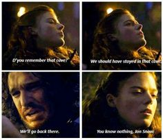 When she said that, I almost cheered. It's the one thing I quote the most from that show