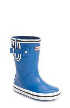 Hunter Buoy Stripe Rain Boot (Toddler)