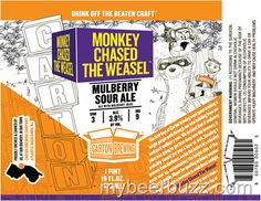mybeerbuzz.com - Bringing Good Beers & Good People Together...: Carton Brewing - The Monkey Chased The Weasel Mulb...