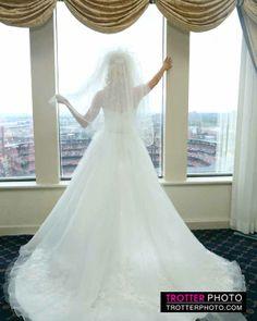 Gorgeous! #bridal #wedding #brides #weddindress  www.facebook.com/trotterphoto #cardinalstadium  #buststadium