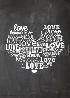 artsy-fartsy mama: Free Printable Love Word Art