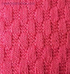 Tile knitting stitches