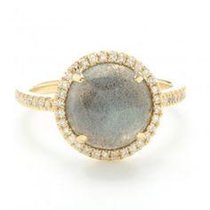 Getana Labradorite and Diamond Ring