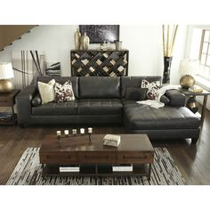 Nokomis Sectional with Chaise Living Room Sets, Living Room Decor, 2 Piece Sectional Sofa, Chaise Sofa, American Home Furniture, Unique Sofas, Traditional Sofa, Sofa Seats, Bed Furniture