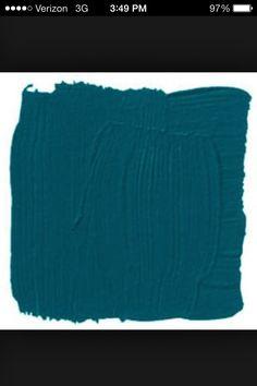 Benjamin Moore, Venezuelan Sea - front door? Front Porch Addition, Paint Colours, Door Ideas, Benjamin Moore, Powder Room, Exterior, Doors, Sea, Decorating