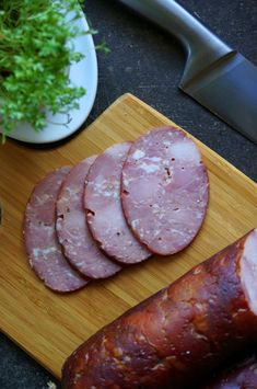My Favorite Food, Favorite Recipes, Kielbasa, Smoking Meat, Sausage, Grilling, Food And Drink, Cold Cuts, Canning