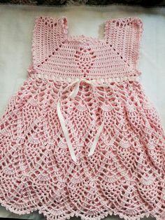 Crochet Baby Clothes Boy, Crochet Dress Girl, Crochet Baby Dress Pattern, Baby Girl Crochet, Crochet For Kids, Crochet Patterns, Crochet Baby Dresses, Crochet Princess, Baby Dress Design