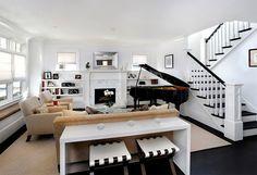 Piano na sala de estar, 16 ideias para você se inspirar - limaonagua