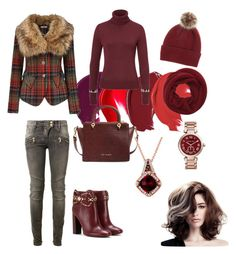 Cold days in red by ela-gashi on Polyvore featuring polyvore, fashion, style, Joe Browns, Balmain, Tory Burch, Ted Baker, Michael Kors, LE VIAN, Helen Moore, Wyatt, women's clothing, women's fashion, women, female, woman, misses and juniors