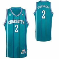 adidas Larry Johnson Charlotte Hornets Grandmama Soul Swingman Nickname Jersey - Teal