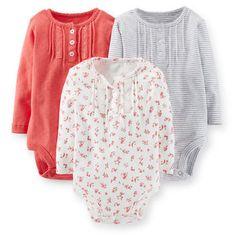 3-Pack Long-Sleeve Bodysuits