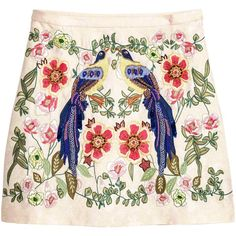 Embroidered skirt (1.440 CZK) ❤ liked on Polyvore featuring skirts, bottoms, jacquard skirts, short skirts, lined skirt and embroidered skirt
