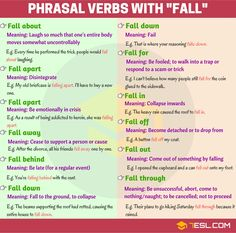 Phrasal Verbs with: FALL