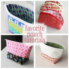 Favorite zipper pouch tutorials - these are the top three tutorials to use when you need a zipper pouch!