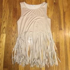 Fringe Top Size medium, new without tags Acemi Tops Crop Tops
