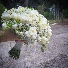 Wedding bouquet bouvardia freesia
