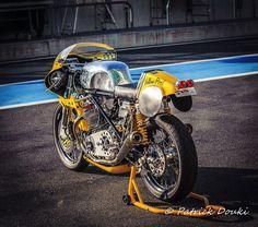 Norton Manx Cafe Racer Sport - Photo By Patrick Douki #motorcycles #caferacer #motos | caferacerpasion.com