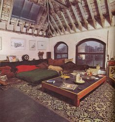 Wharf-side converted grain warehouse, home of filmmaker Derek Jarman in the 1970s. (From the Etsy blog).