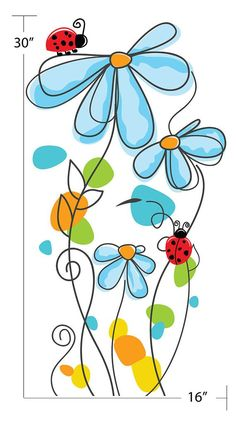 Flower Drawing Discover Teen Girl Room Wall Decal Flower Wall Decal Floral Wall Decal Nursery Wall Decals Nursery Wall Stickers Wall Decals Nursery Nursery Wall Decal Teen Girl Room Wall Decal by justforyoudecals Doodle Drawings, Easy Drawings, Doodle Art, Watercolor Cards, Watercolor Flowers, Drawing Flowers, Watercolour, Nursery Wall Stickers, Room Stickers