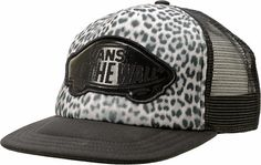 af5a585029e Vans Beach Girl Snow Leopard Trucker Hat