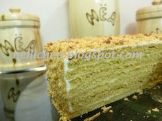 Honig-Schichttorte russischer Art, Honey layer cake russian style