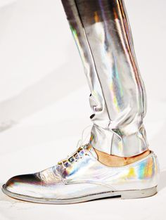 iridescent | mother-of-pearl | gleaming | shimmering | metallic rainbow | shine | hussein chalayan