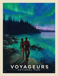 Anderson Design Group – American National Parks – Voyageurs National Park: Northern Lights