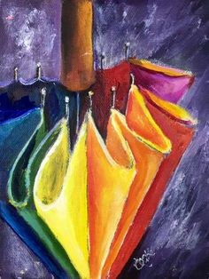 Released from our Vaults. Happy rainbow umbrella. If you have not painted this on its is awesome larger.