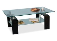 ZEE Clear Glass Side Table From Durian Is Modern U0026 Sleek Design Glass Side  Table. It Has Clear Tempered Bend Glass Coffee Table With Casters And Two  Shelf ...